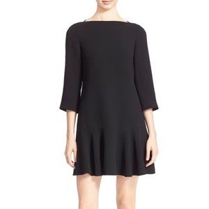 Black Kate Spade Flounced Hem Drop Waist Dress 14